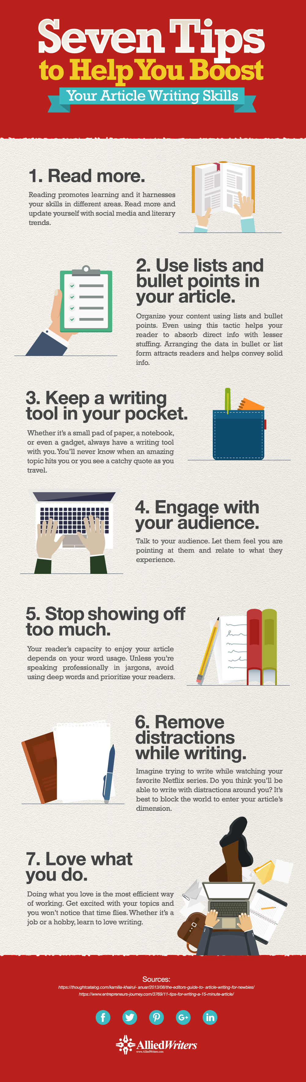 Seven Tips to Help You Boost Your Article Writing Infographic 01