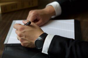 man listing corporate profile inclusion
