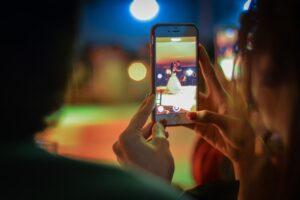 Capturing wedding through Iphone